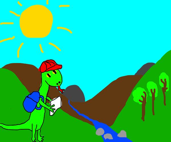 lil lizard man is going on a trip