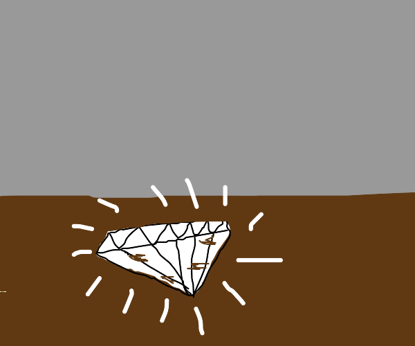 A diamond in the dirt