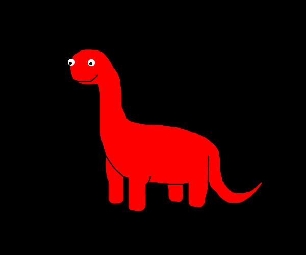 red dinosour