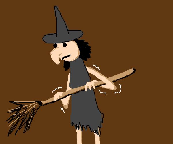 Shaky sad witch
