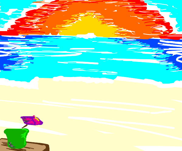a relaxing day at the beach