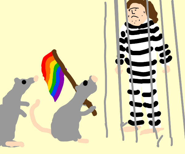 GAY RATS!!...next to a man in prison