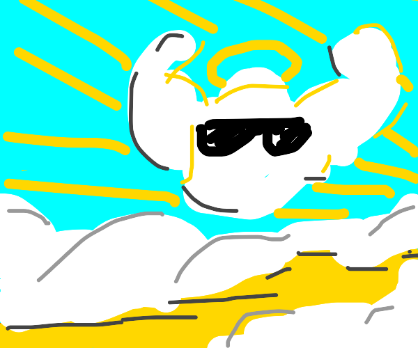 Cool heavenly white blob is EPIC