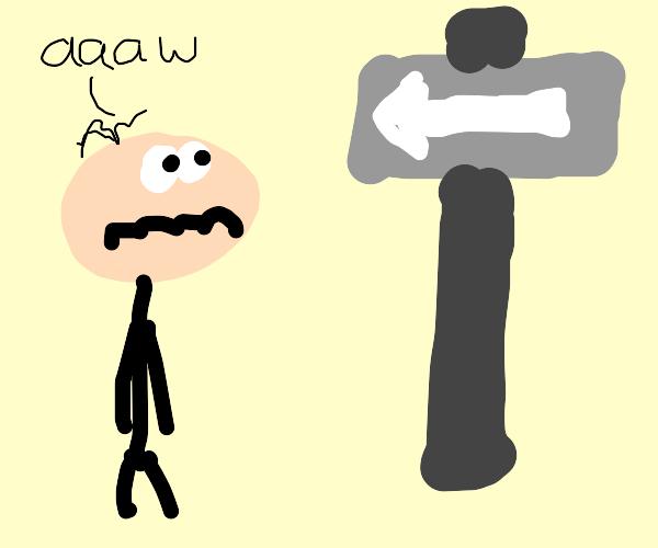 One Way sighn