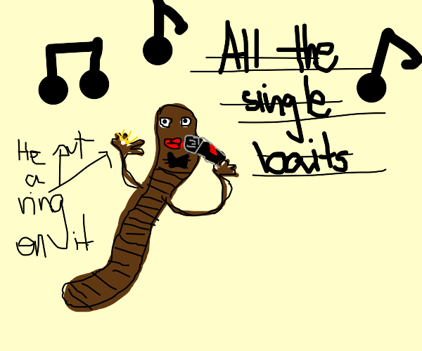 "Worm Singing ""All the Single Baits"""