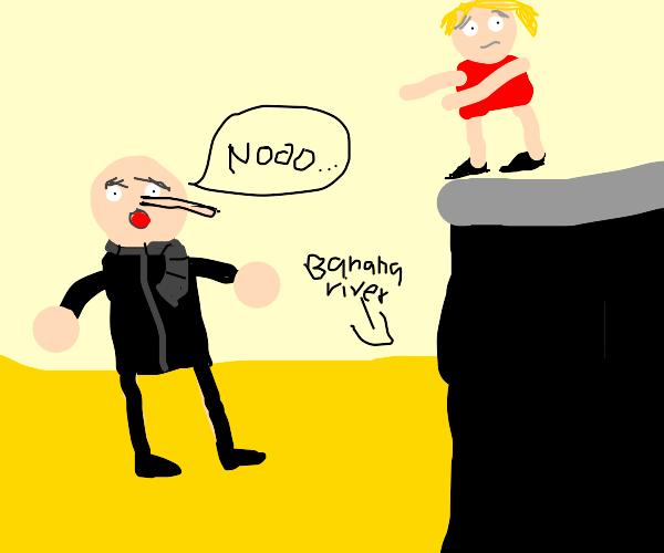 Gru drowns in the banana river (very sad)