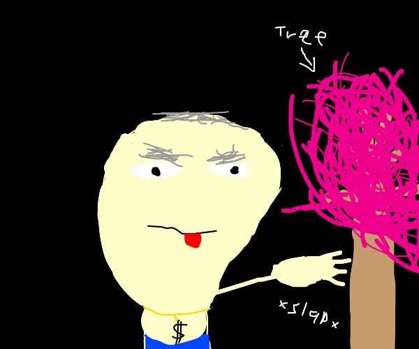 Rich Cartoon Character slaps Blossom