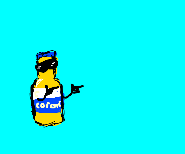 corona with sunglasses does fingerguns