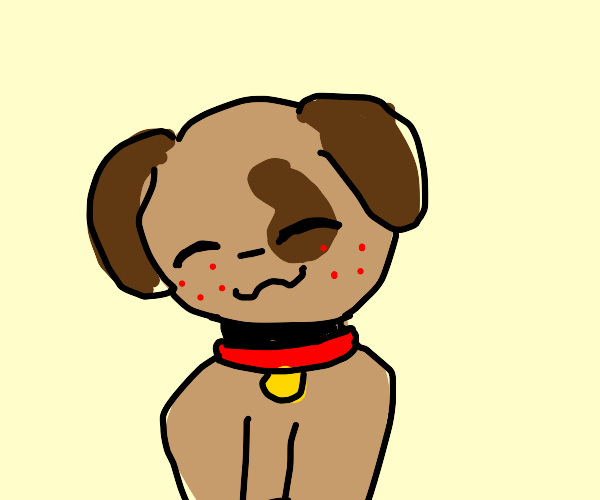 Dog with red freckles