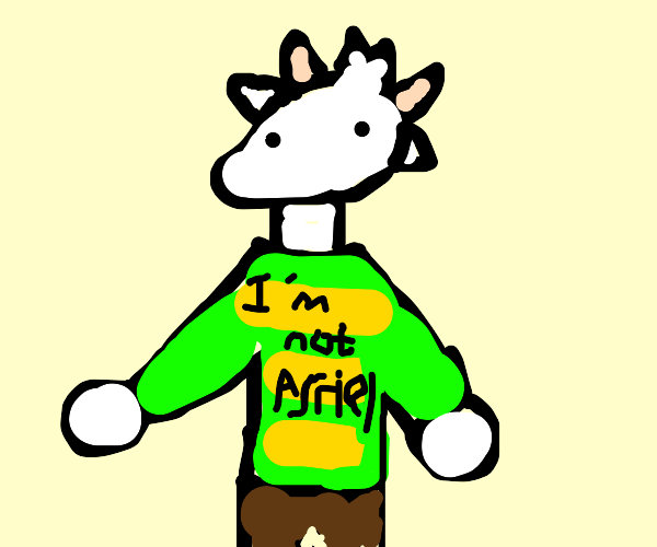Goat wearing a T-Shirt
