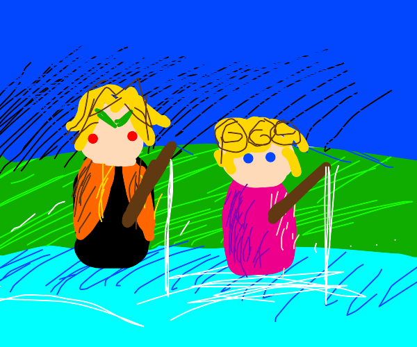 dio doing fatherly activites with giorno