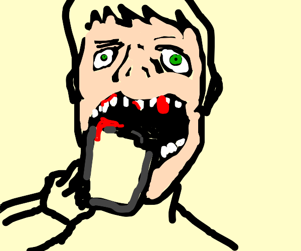 You are eating a tablet contest, its painful