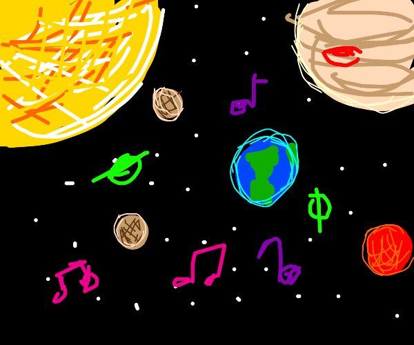 space is full of music