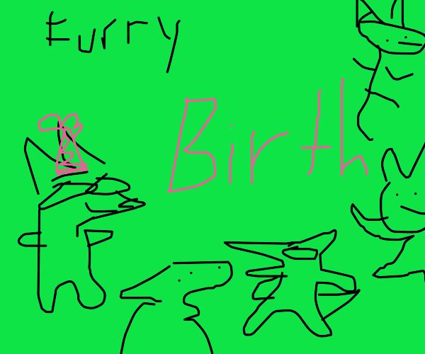 furry birthday party!