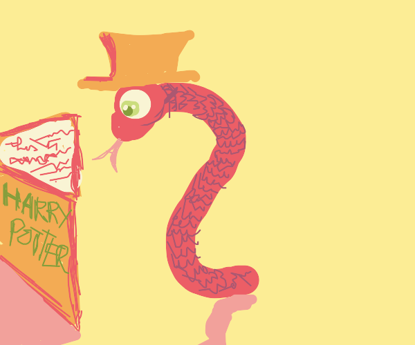 snake in cowboy hat reads