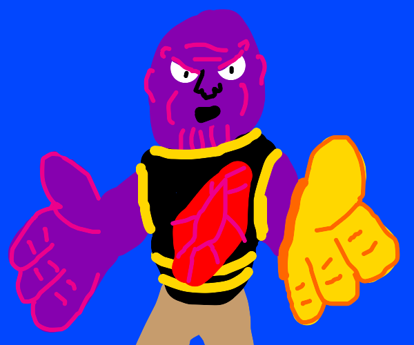 Thanos shows you how to scratch it.