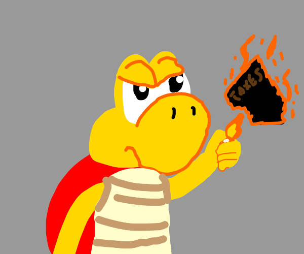 red koopa troopa burns his taxes