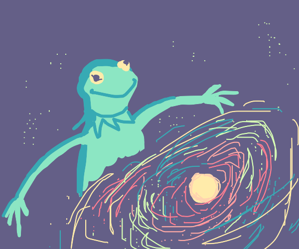 Kermit creates a universe