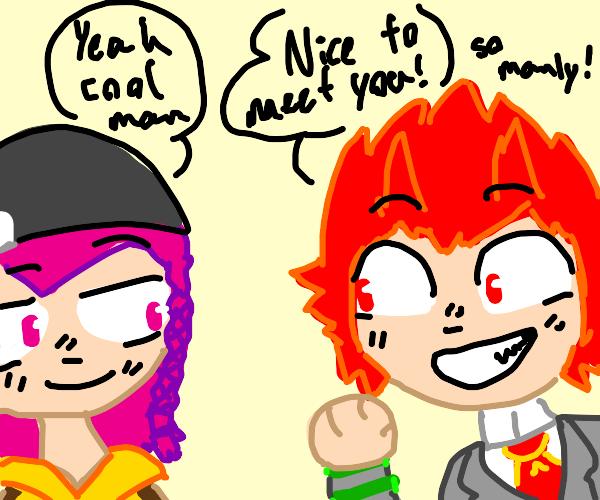 Kirishima (BNHA) meets Kazuichi (SDR2)