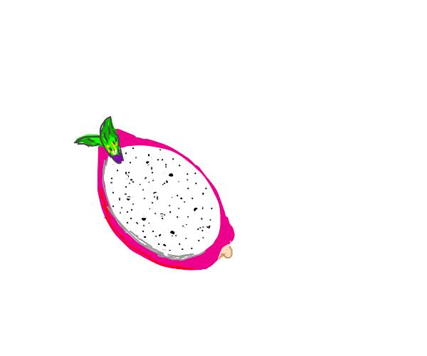 halved dragon fruit