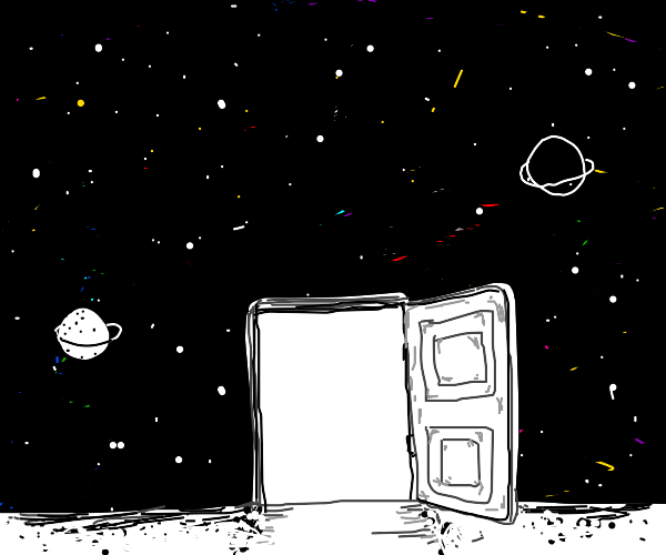 Door at the edge of the universe