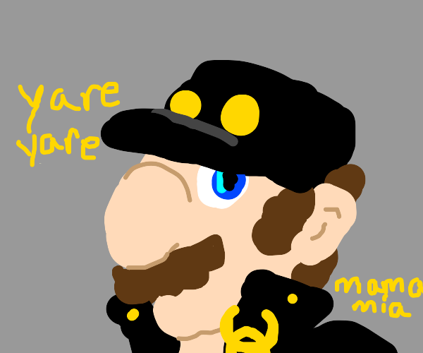 Mario cosplaying as jotaro