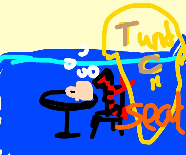 Underwater chair