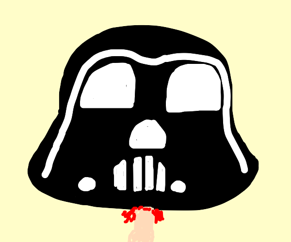 darth vaders head chopped off
