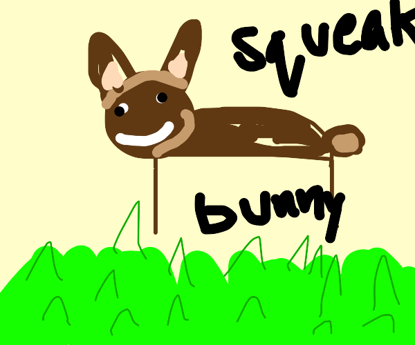 a bunny in something green