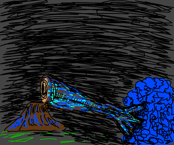 a tree(with blue for shading)