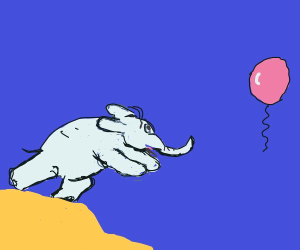 elephant needs his balloon