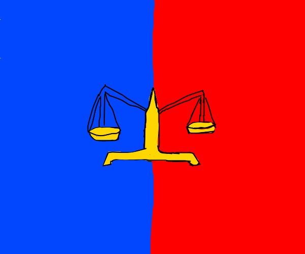 balance between red and blue