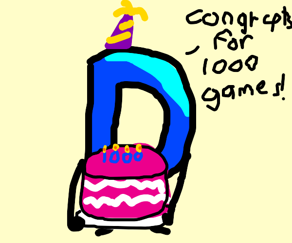 congrats for 1000+ drawings/games!