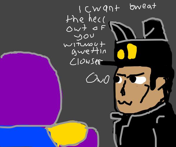 Thanos vs Jotaro furry