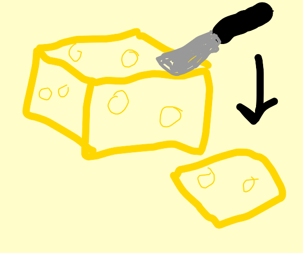 a slice of cheese