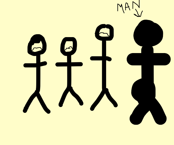4 men but one is T H I C C