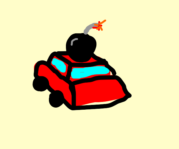 Bomb explodes on top of car