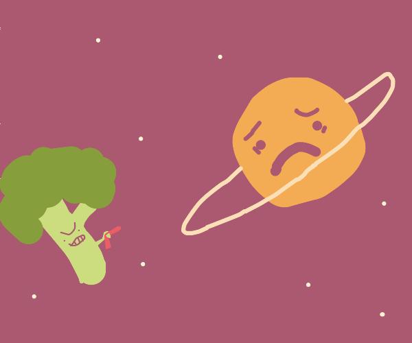 brocoli man attacks Saturn