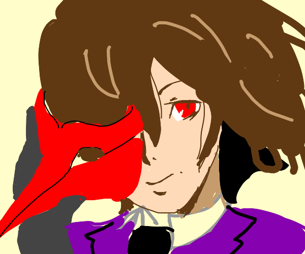 Goro Akechi with a red mask