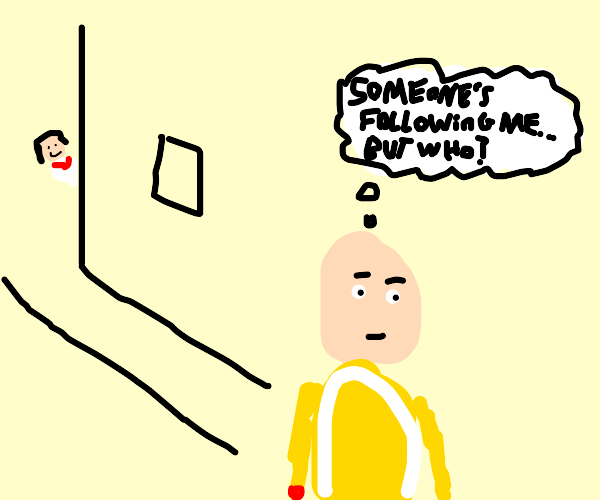 One punch man getting stalked