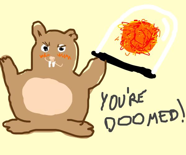 Hamster captured the sun (We all doomed)