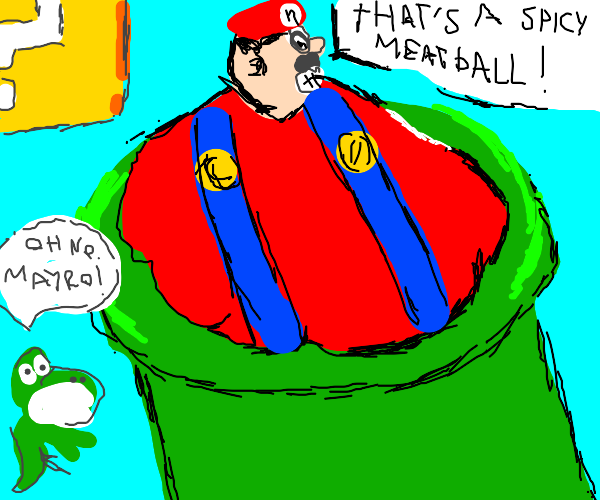 Mario too fat to fit in pipes