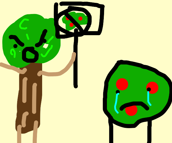 the trees form a faction against the bushes