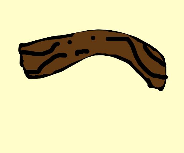 sad overcooked bacon