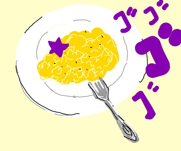 JoJo scrambled eggs? JJBA
