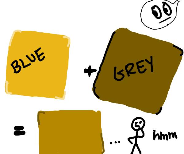 A Dull Blue Colour