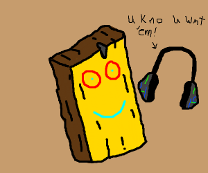 Plank with earphones trying to lure you in