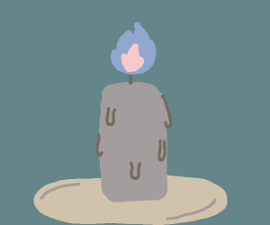 Blue-flame candle
