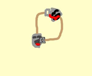 Shovels Eating each other