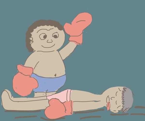A weird fighter wins
